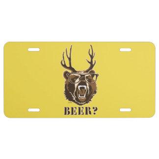 Bear, Deer or Beer License Plate