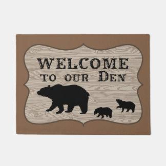 Bear Den Welcome Doormat