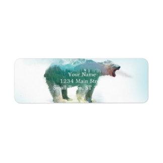 Bear double exposure - polar bear - bear art