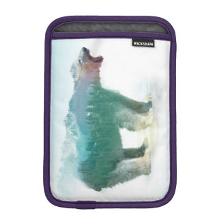 Bear double exposure - polar bear - bear art iPad mini sleeve