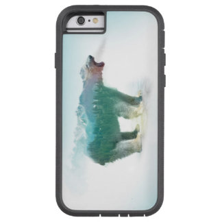Bear double exposure - polar bear - bear art tough xtreme iPhone 6 case