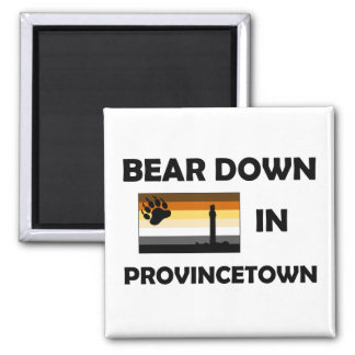 Bear Down In Provincetown Square Magnet