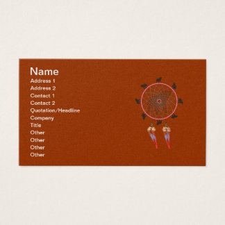 Bear Dream Catcher Business Card