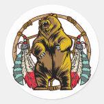 Bear Dreamcatcher Classic Round Sticker