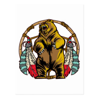 Bear Dreamcatcher Postcard