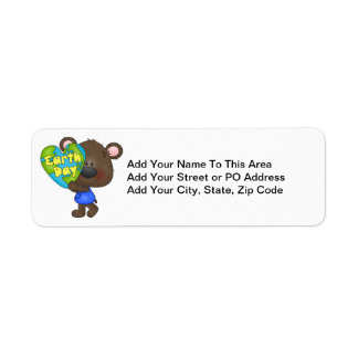 Bear Earth Day Return Address Label