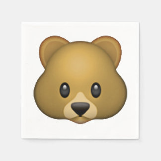 Bear - Emoji Paper Napkin