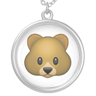 Bear - Emoji Silver Plated Necklace