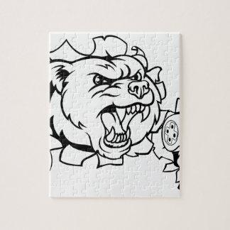 Bear Esports Mascot Jigsaw Puzzle
