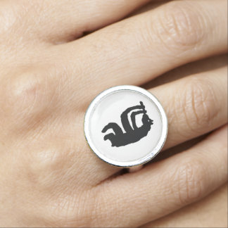 Bear Flute Player Ring
