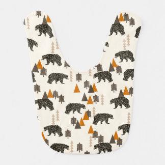 Bear / Forest Woodland Camping / Andrea Lauren Baby Bibs