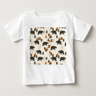 Bear / Forest Woodland Camping / Andrea Lauren Baby T-Shirt
