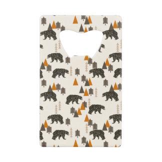 Bear / Forest Woodland Camping / Andrea Lauren Credit Card Bottle Opener