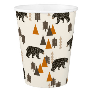 Bear / Forest Woodland Camping / Andrea Lauren Paper Cup