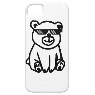bear_glasses_hd_space iPhone 5 case