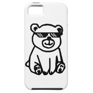 bear_glasses_hd_space iPhone 5 cover
