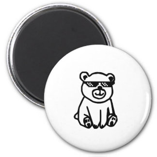 bear_glasses_hd_space magnet