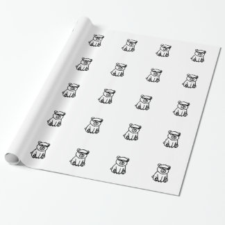bear_glasses_hd_space wrapping paper