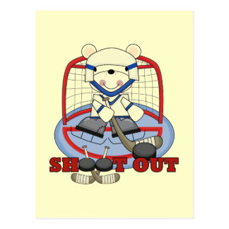 Bear Goalie Shoot Out Hockey Tshirts and Gifts Postcard