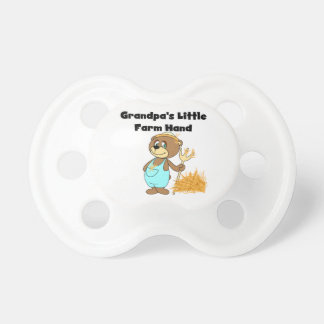 Bear Grandpa's Little Farm Hand Baby Pacifiers