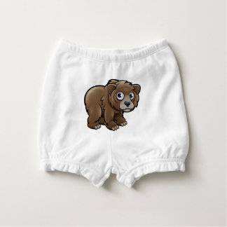 Bear Grizzly Animals Cartoon Character Diaper Cover