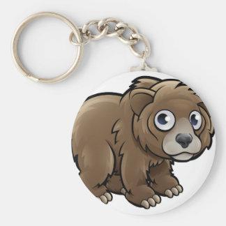 Bear Grizzly Animals Cartoon Character Keychain