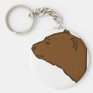 Bear Head Keychain