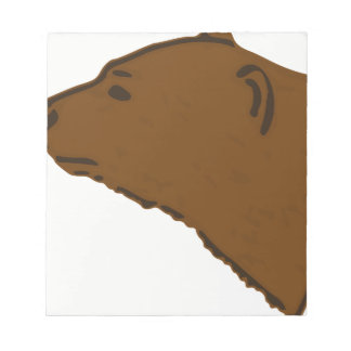 Bear Head Notepad