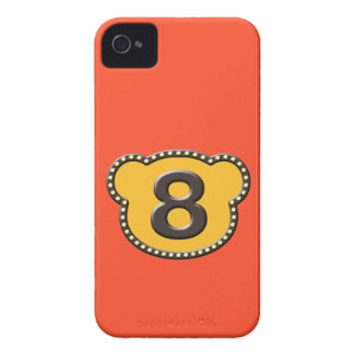 Bear Head Number 8 Case-Mate iPhone 4 Cases