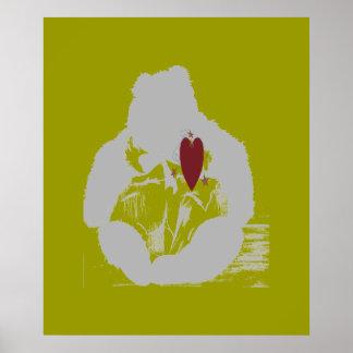 Bear Heart Poster