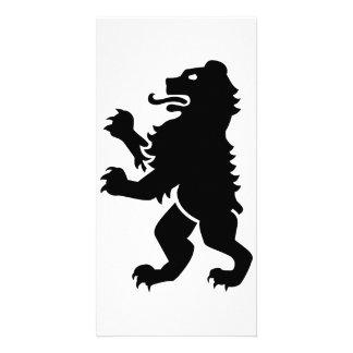 Bear heraldry photo card