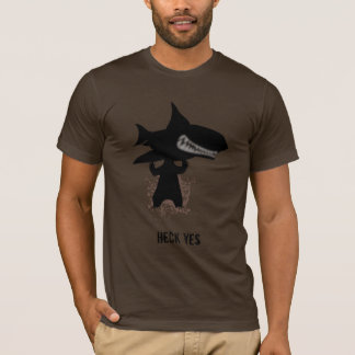 Bear holding a shark T-Shirt