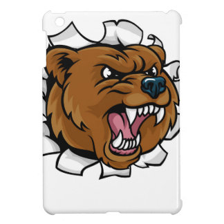 Bear Holding Basketball Ball Breaking Background Cover For The iPad Mini