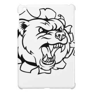 Bear Holding Bowling Ball Breaking Background Case For The iPad Mini