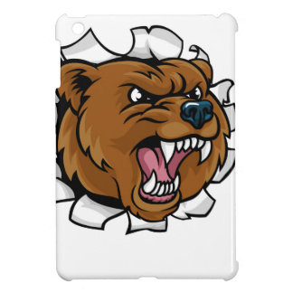 Bear Holding Bowling Ball Breaking Background iPad Mini Cases