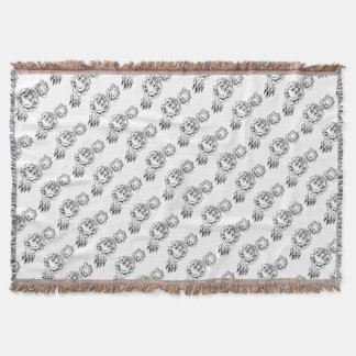 Bear Holding Bowling Ball Breaking Background Throw Blanket