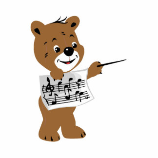 bear holding sheet music png photo cut out