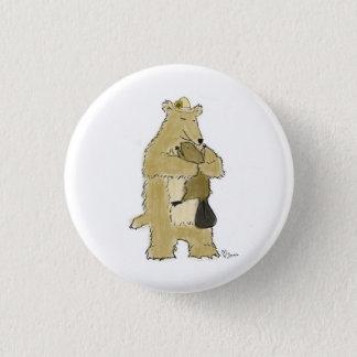 Bear hug 1 inch round button