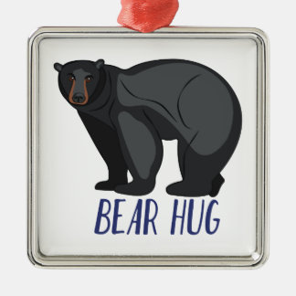 Bear Hug Metal Ornament
