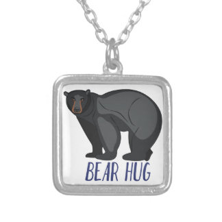 Bear Hug Silver Plated Necklace