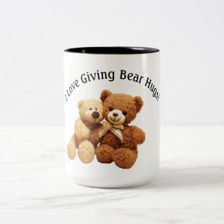 Bear Hugs 15-ounce Two-Tone Mug