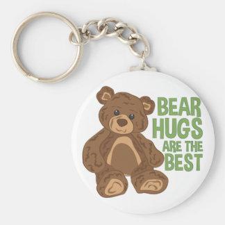 Bear Hugs Basic Round Button Keychain