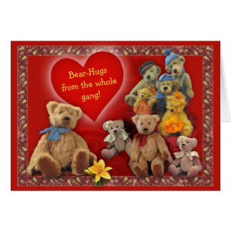 Bear-Hugs from the Whole Gang! Card