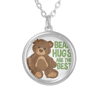 Bear Hugs Silver Plated Necklace