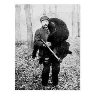 Bear hunter, 1909 postcard