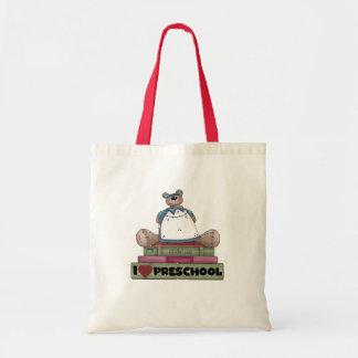 Bear I Love Preschool Tshirts and Gifts Tote Bag