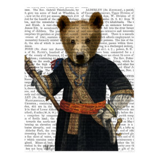 Bear in Blue Robes 2 Postcard