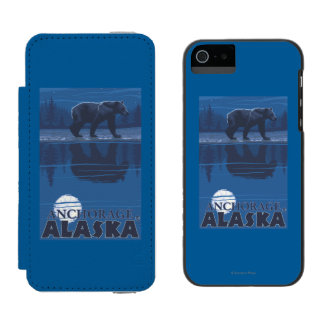 Bear in Moonlight - Anchorage, Alaska Incipio Watson™ iPhone 5 Wallet Case