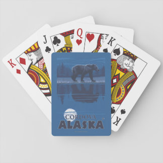 Bear in Moonlight - Cordova, Alaska Playing Cards