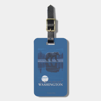Bear in Moonlight - Mount St. Helens, Luggage Tag